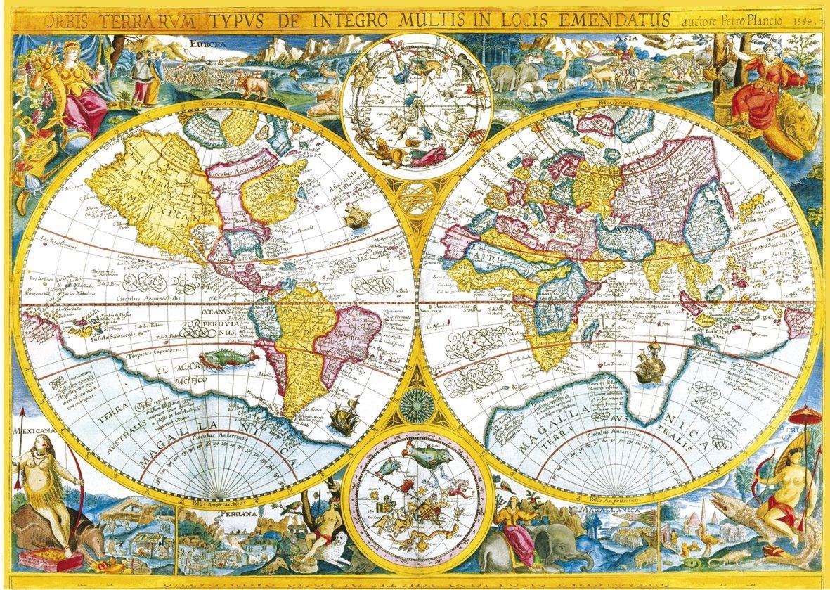 jigsaw puzzle 4000 pieces ancient world map clementoni. Black Bedroom Furniture Sets. Home Design Ideas
