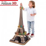 3D Puzzle with LED - Eiffel Tower, Paris - 82 piece jigsaw puzzle