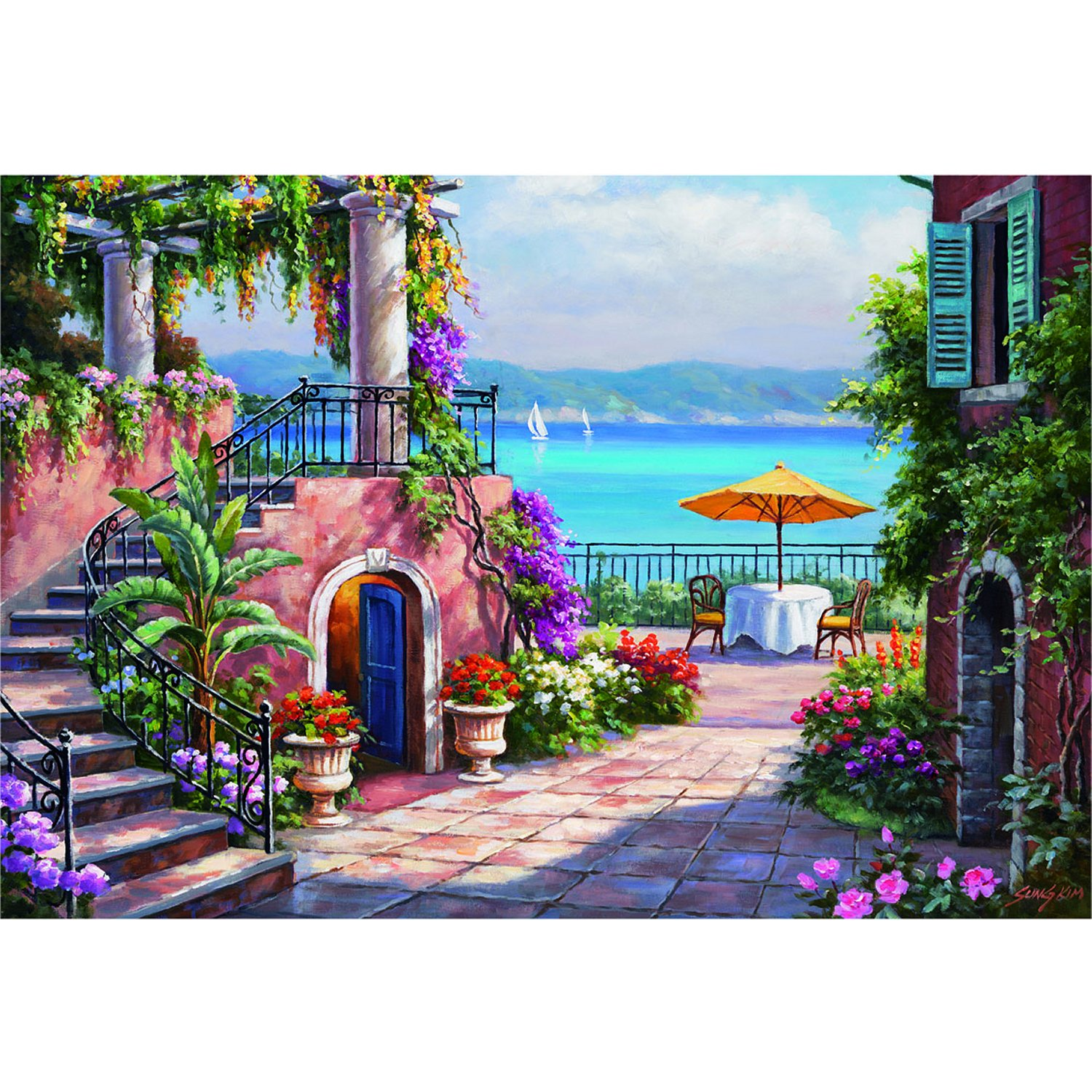 jigsaw puzzle 3000 pieces sung kim tuscan terrace educa 14823 3000 pieces jigsaw puzzles. Black Bedroom Furniture Sets. Home Design Ideas