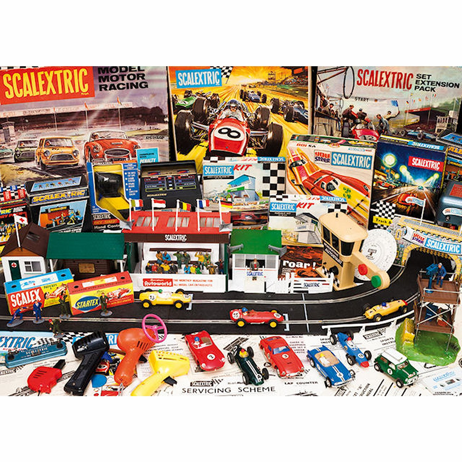 jigsaw puzzle 1000 pieces scalextric gibsonsg7027
