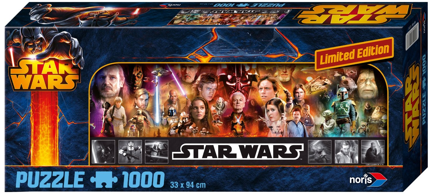 puzzle star wars limited edition noris 606031233 1000 pieces jigsaw puzzles super heroes. Black Bedroom Furniture Sets. Home Design Ideas