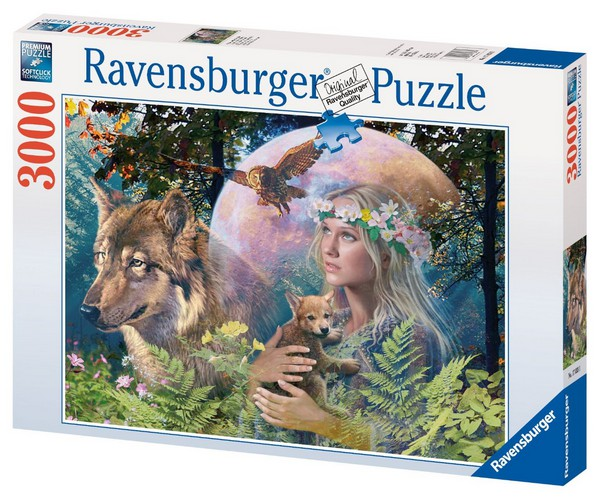jigsaw puzzle 3000 pieces wolves in the moonlight ravensburger 17033 3000 pieces jigsaw. Black Bedroom Furniture Sets. Home Design Ideas