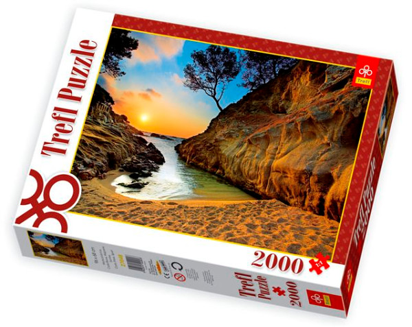 Jigsaw Puzzle - 2000 Pieces - Sunset over the Costa Brava, Spain